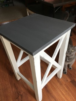 Grey and white table